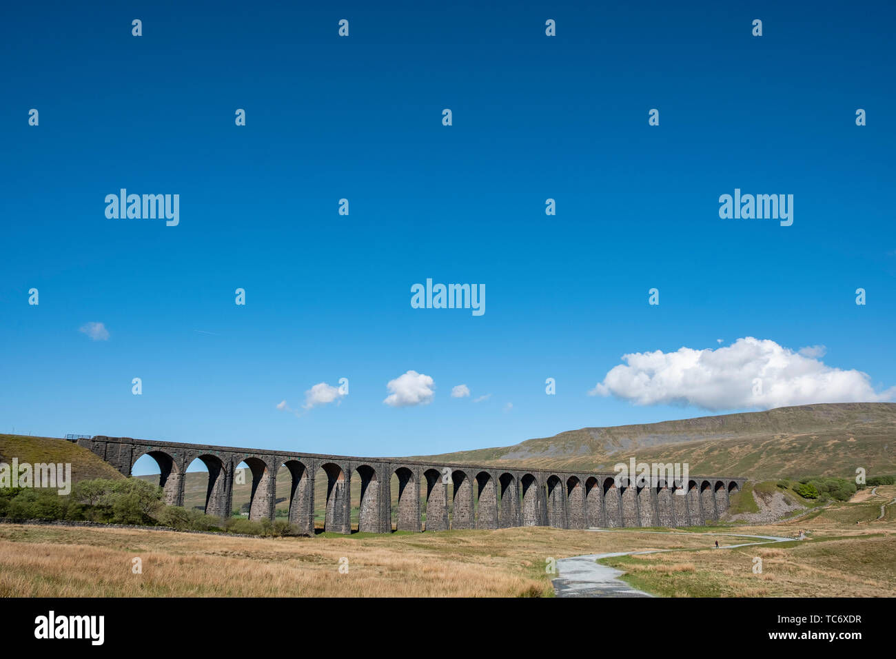 Ribble Head Viaduct in The Yorkshire Dales National Park. England, UK - Stock Image