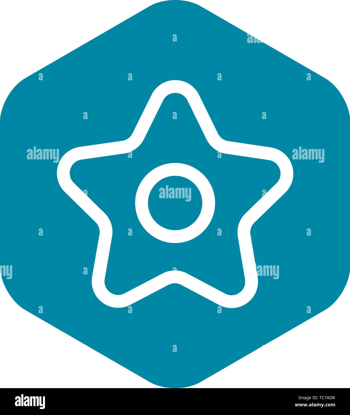 Xmas star icon, outline style - Stock Vector