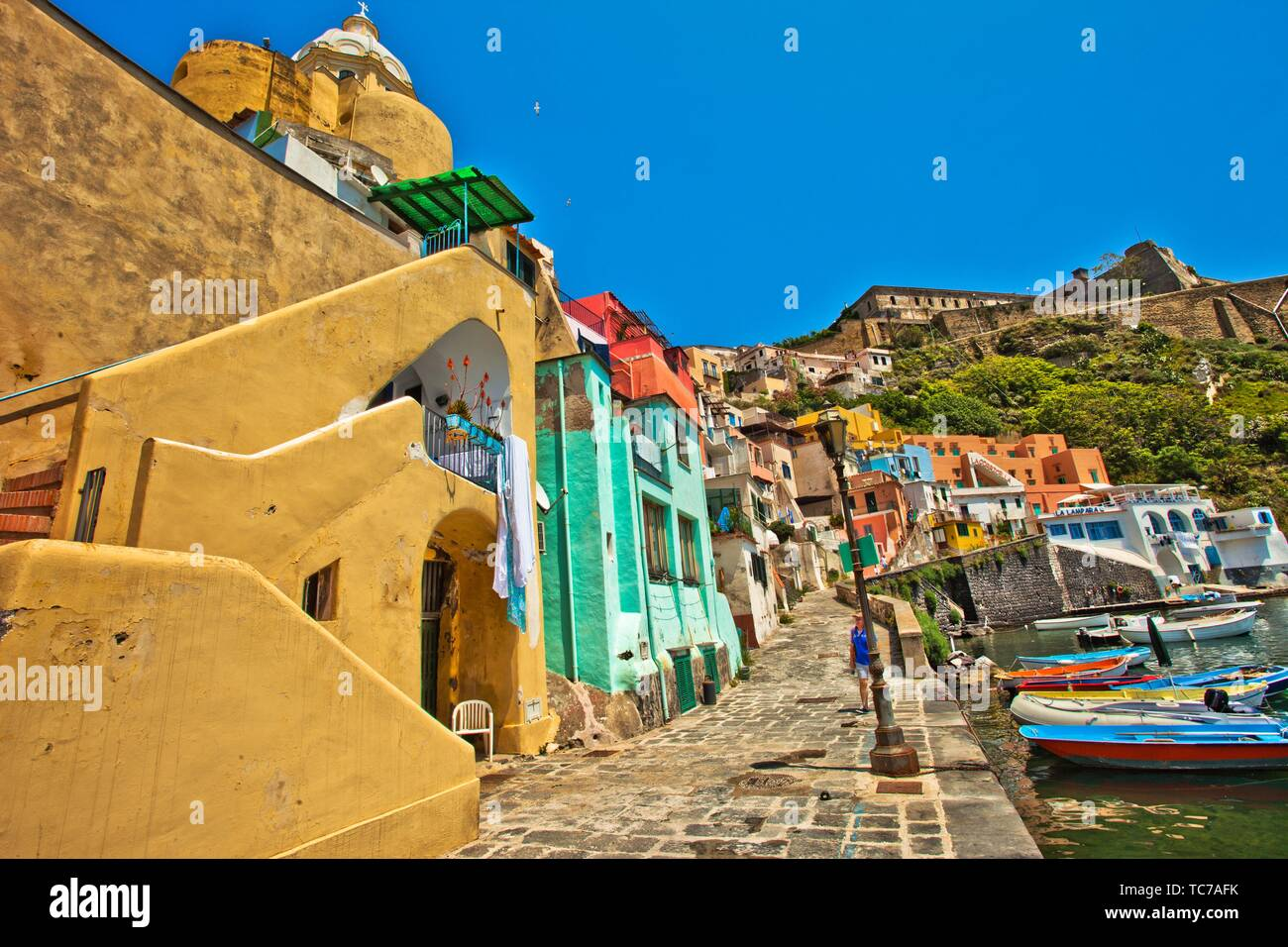 Procida, Phlegraean Islands, Gulf of Naples, Bay of Naples, Italy, Europe. - Stock Image