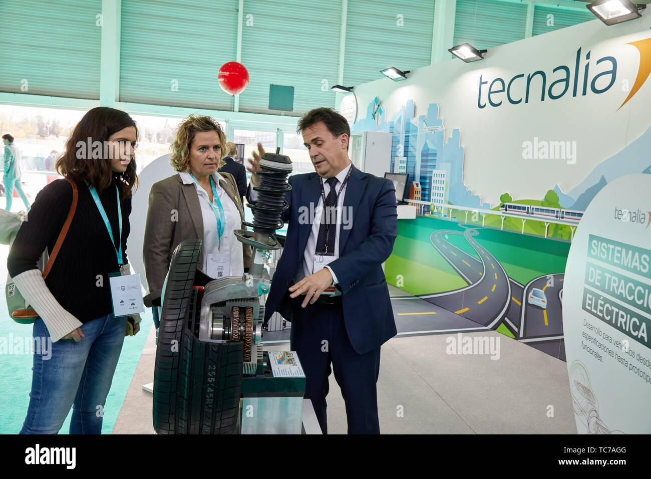 Electric traction system, Tecnalia Research & Innovation,Feria Go Mobility Exhibition, Basque Sustainable Mobility and energy storage industry´s, - Stock Image