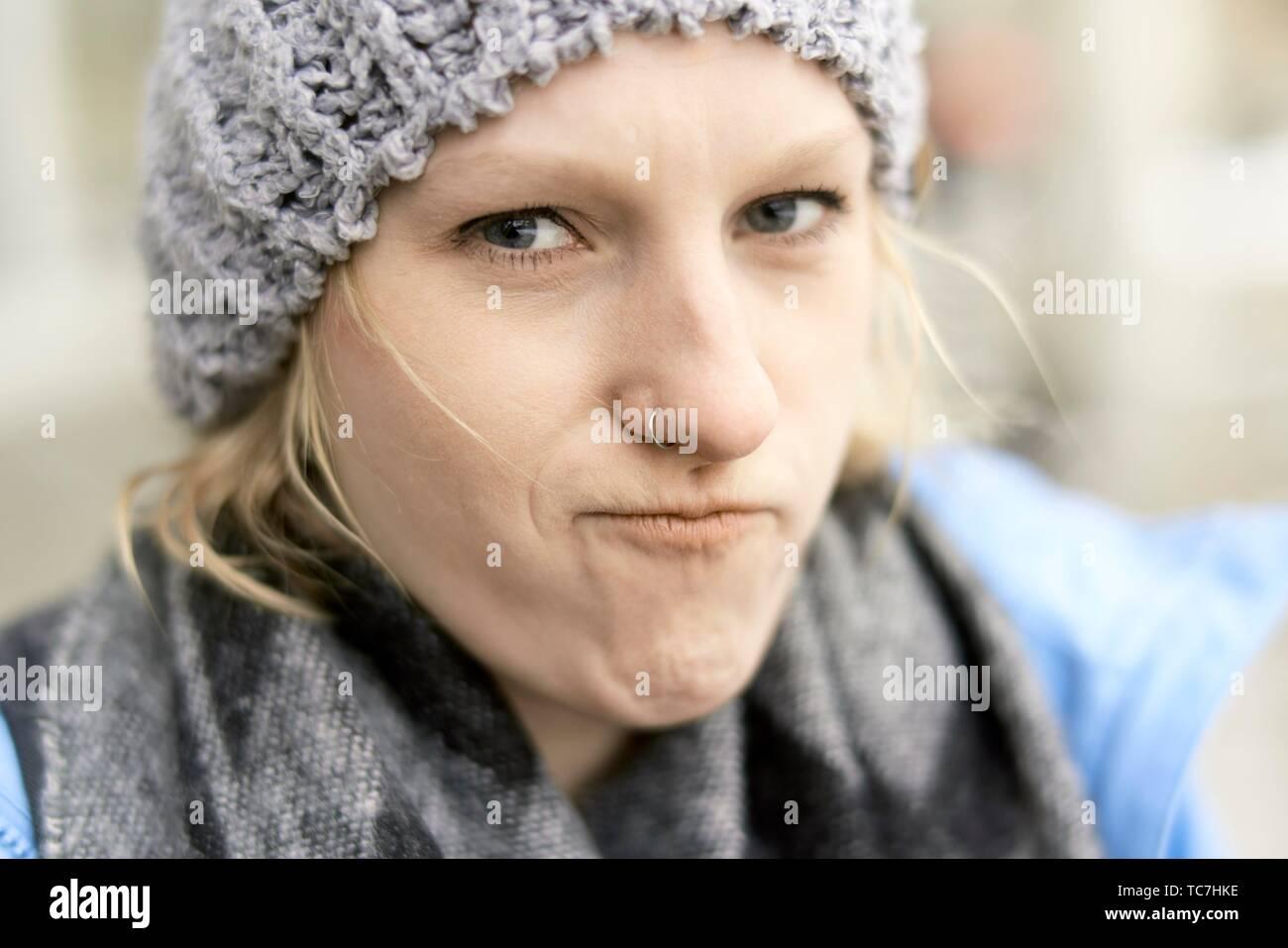 woman, in Munich, Germany. Stock Photo