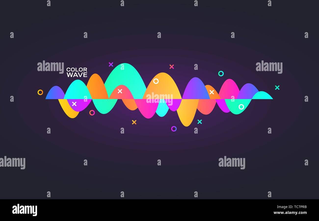 Sound wave gradient  Colorful digital equalizer  Personal