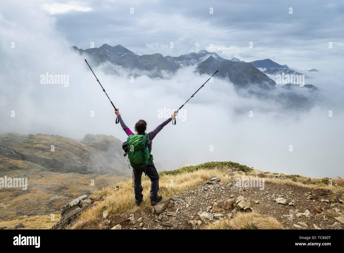 valle de Valier -Riberot-, Parque Natural Regional de los Pirineos de Ariège, cordillera de los Pirineos, Francia. - Stock Image