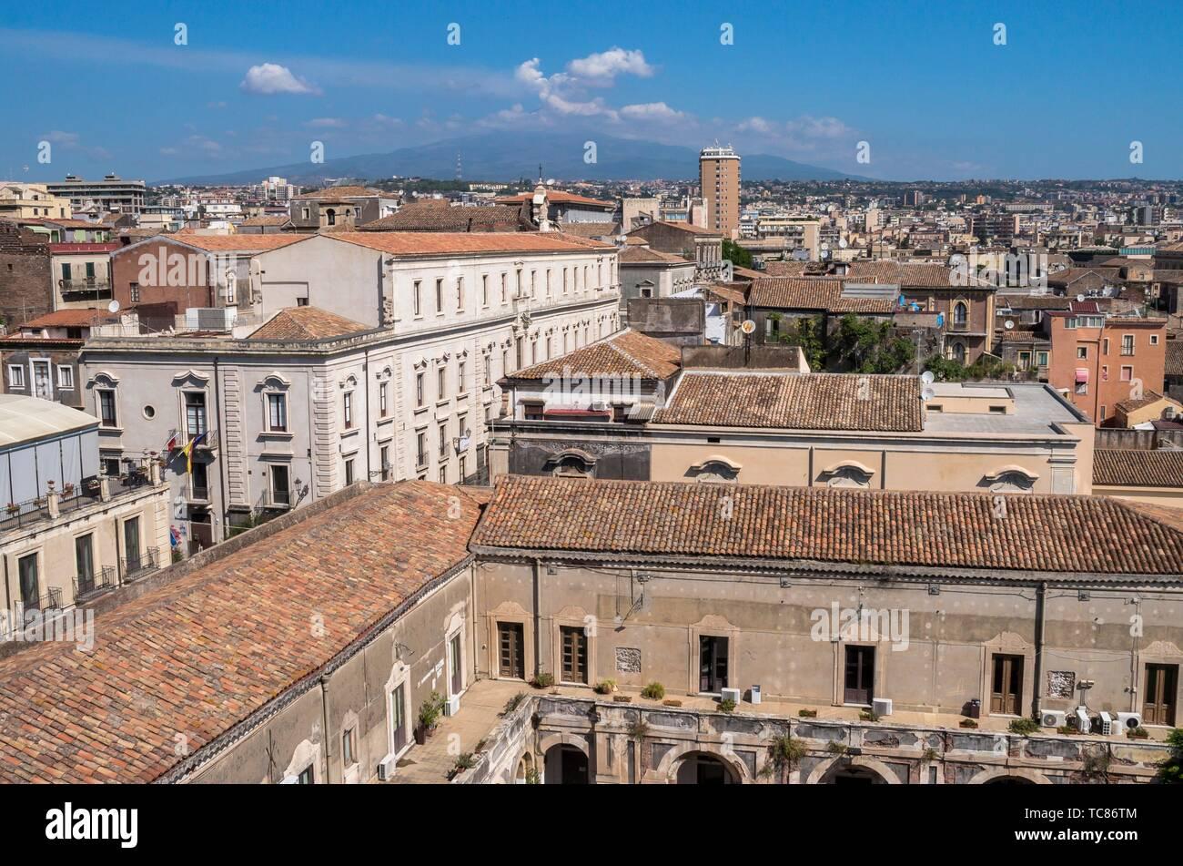 Catania, Etna, Sicily, Italy. - Stock Image