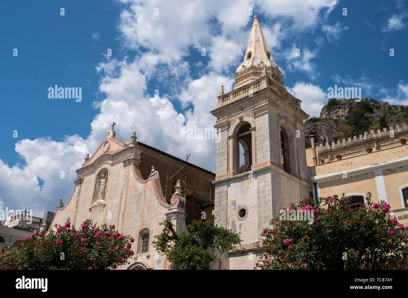 San Giuseppe church, Taormina, Sicily, Italy. - Stock Image