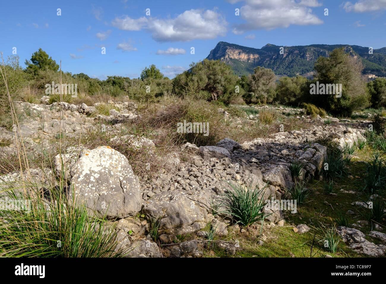 recinto pretalayótico, Son Ferrandell-Son Oleza, I milenio a C. , Valldemossa, Mallorca, Balearic islands, spain. - Stock Image
