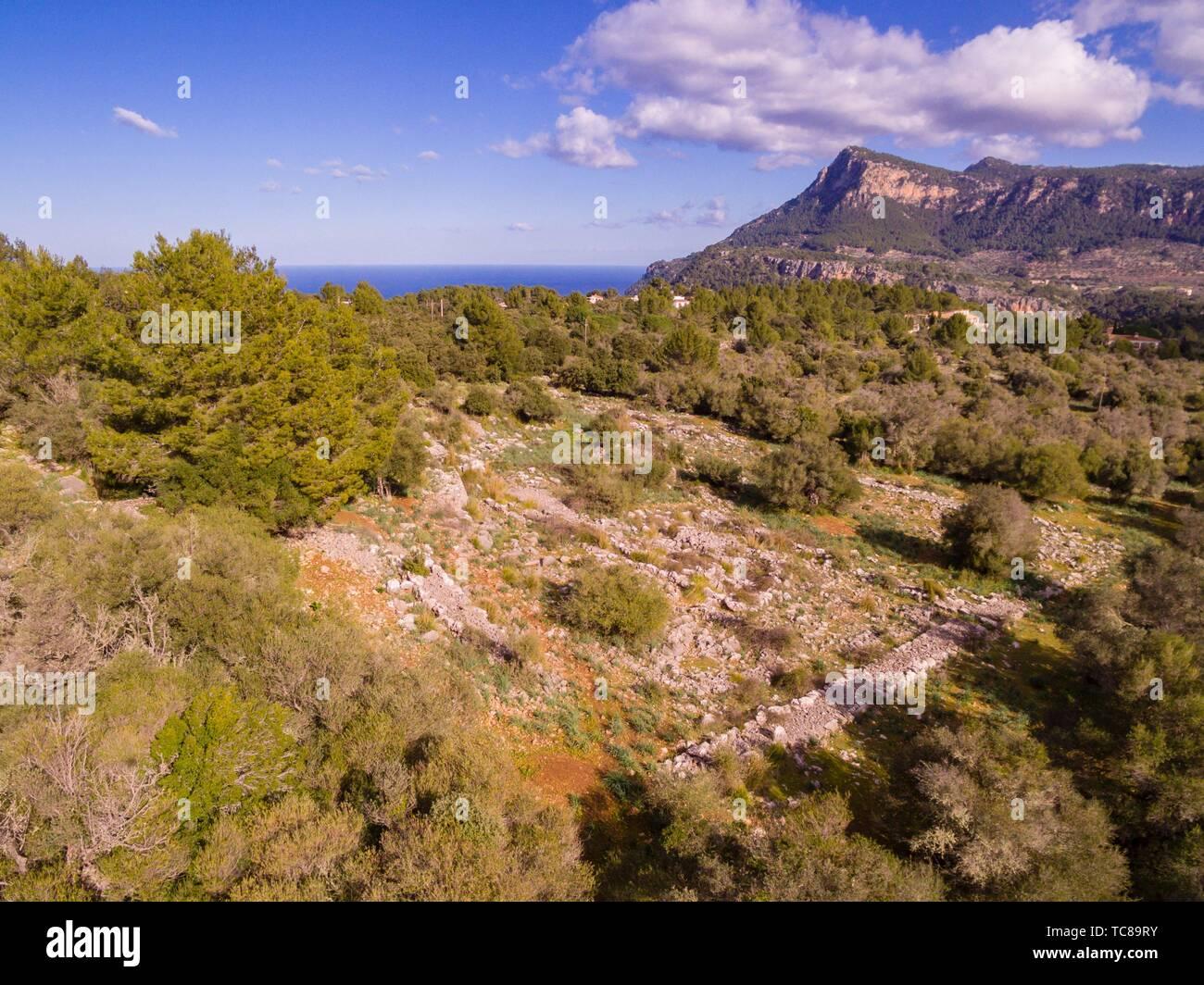 Son Ferrandell-Son Oleza, I milenio a C. , Valldemossa, Mallorca, Balearic islands, spain. Stock Photo