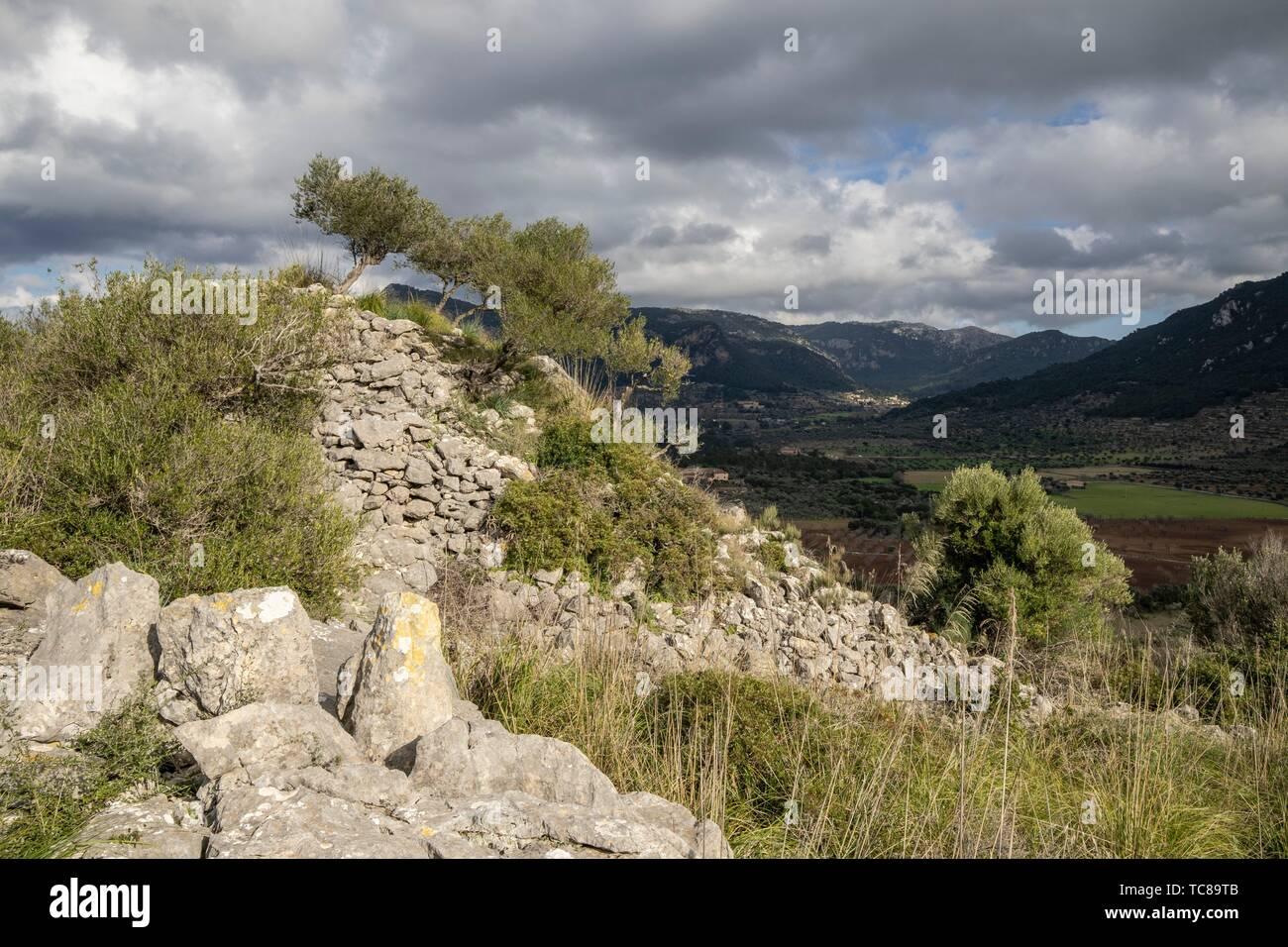 túmulo de Son Ferrandell-Son Oleza, I milenio a C. , Valldemossa, Mallorca, Balearic islands, spain. Stock Photo