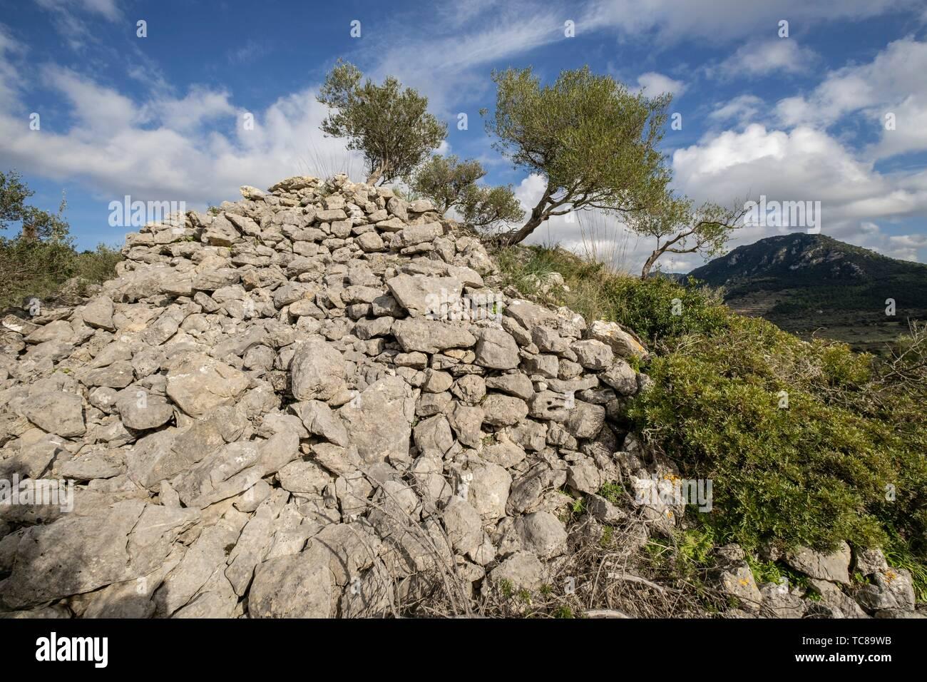túmulo de Son Ferrandell-Son Oleza, I milenio a C. , Valldemossa, Mallorca, Balearic islands, spain. - Stock Image