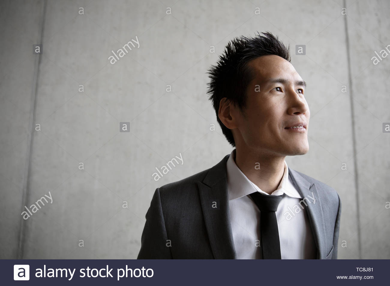 Ambitious, forward looking businessman Stock Photo