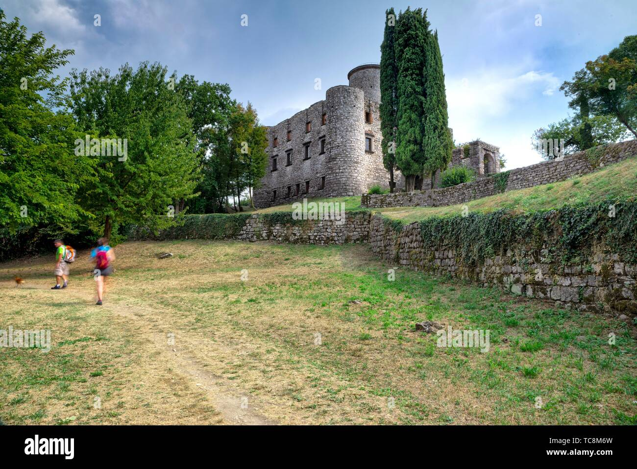 Castle, Monte Isola, Lombardy, Italy - Stock Image
