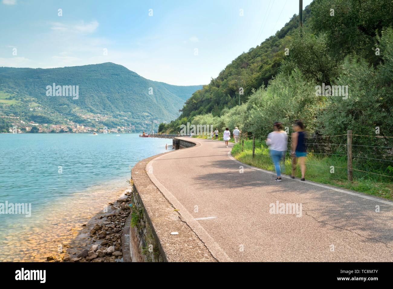 Monte Isola, Lombardy, Italy Stock Photo