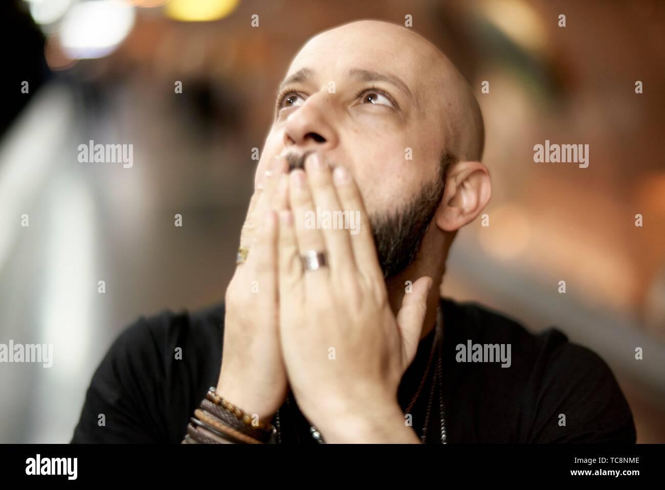 man in Paris, France Stock Photo