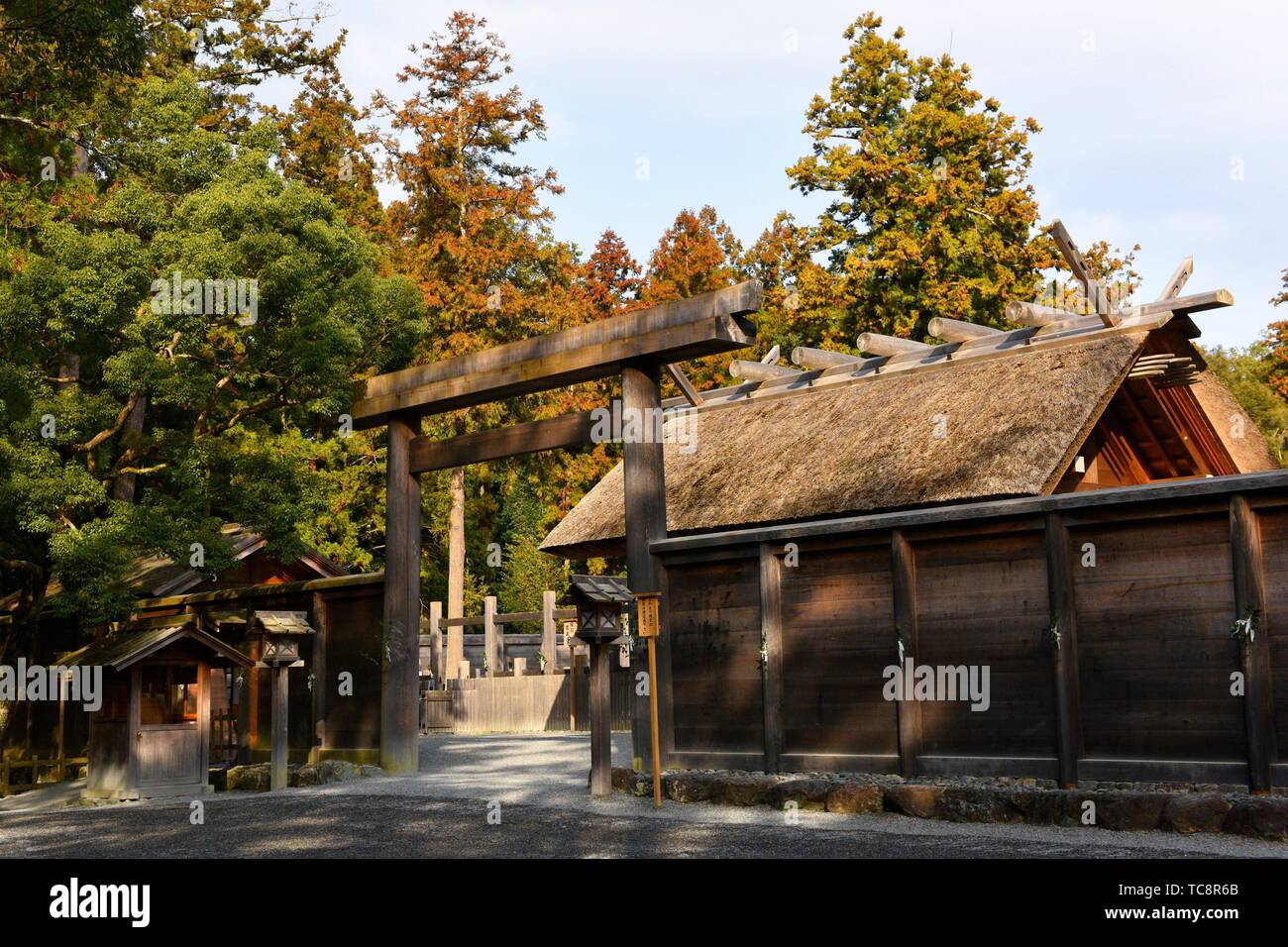 Ise Grand Shrine, Mie Prefecture, view of the Outer Shrine , Japan, Asia. - Stock Image