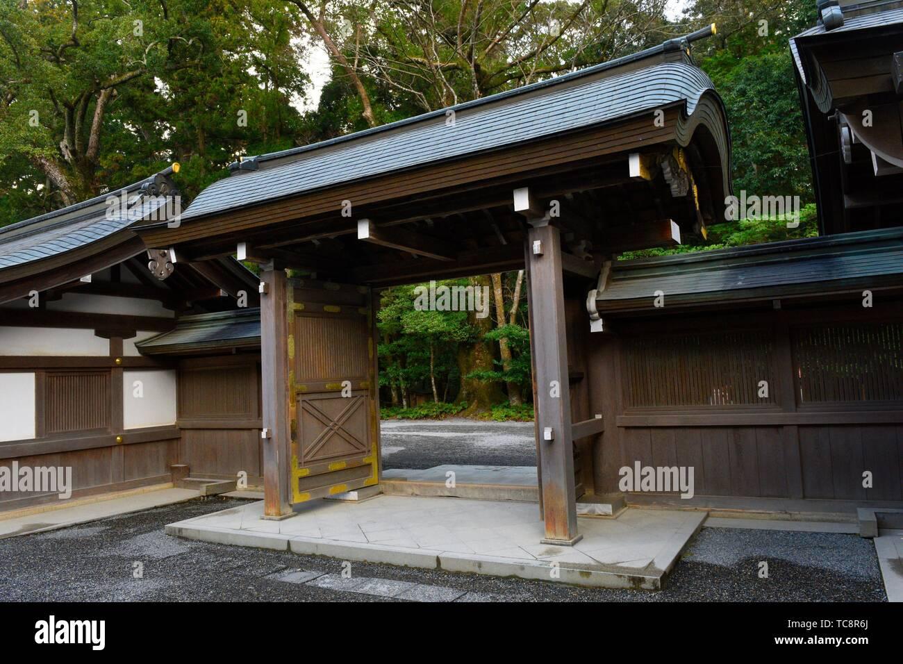 The grounds of Ise-jingu shrine in Ise peninsula, Japan, Asia. - Stock Image