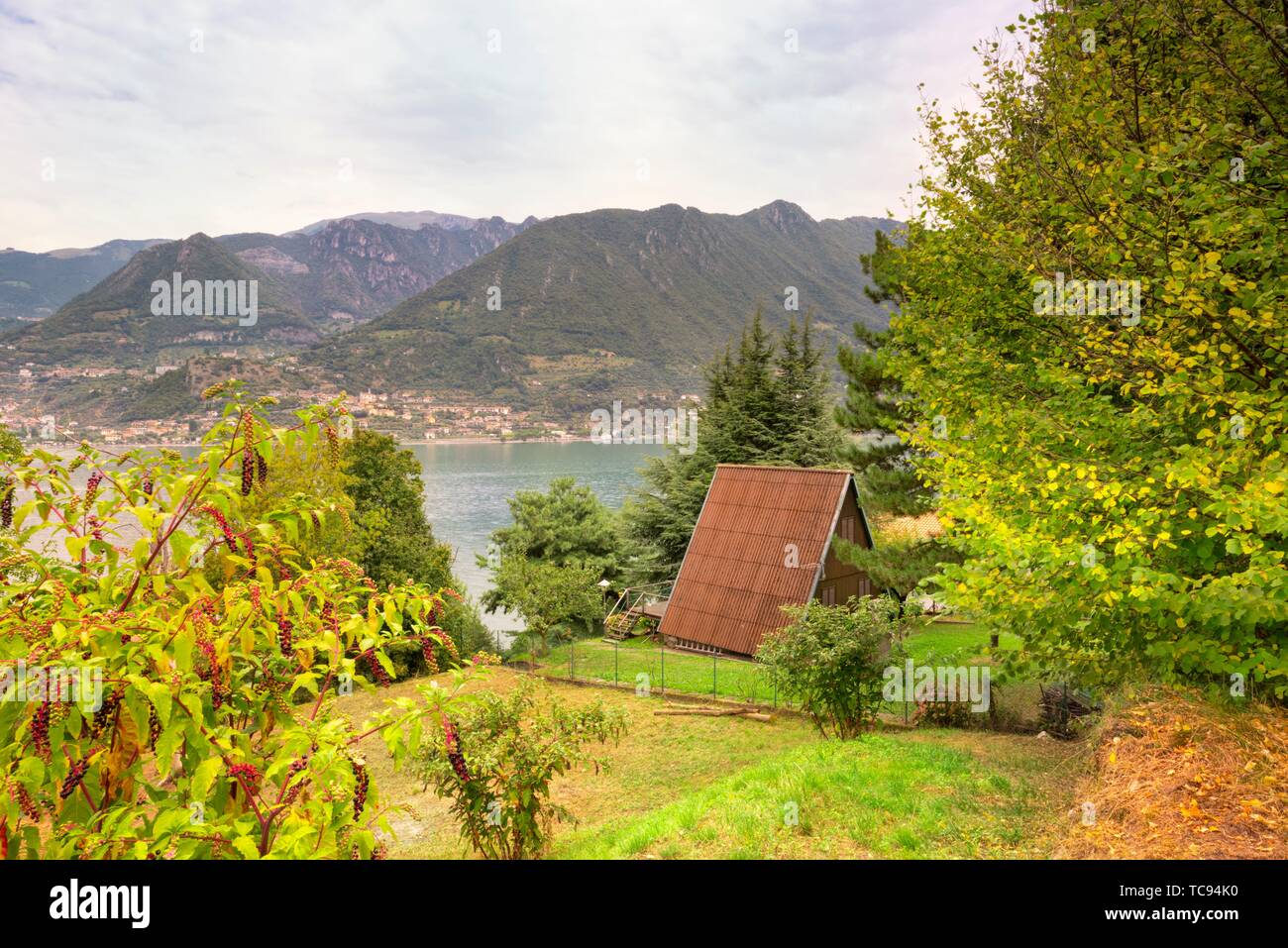 Monte Isola, Lombardy, Italy - Stock Image