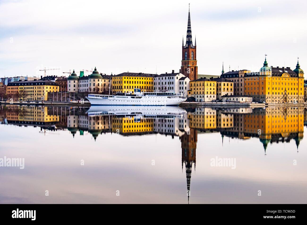 Scenic panorama of the Old Town (Gamla Stan) in Stockholm, Sweden. Stock Photo
