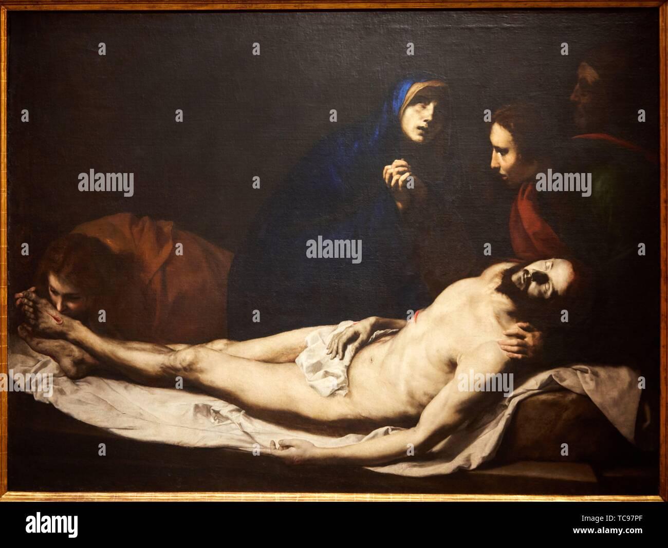 '''The Pietá'', 1633, José de Ribera, Thyssen Bornemisza Museum, Madrid, Spain, Europe - Stock Image