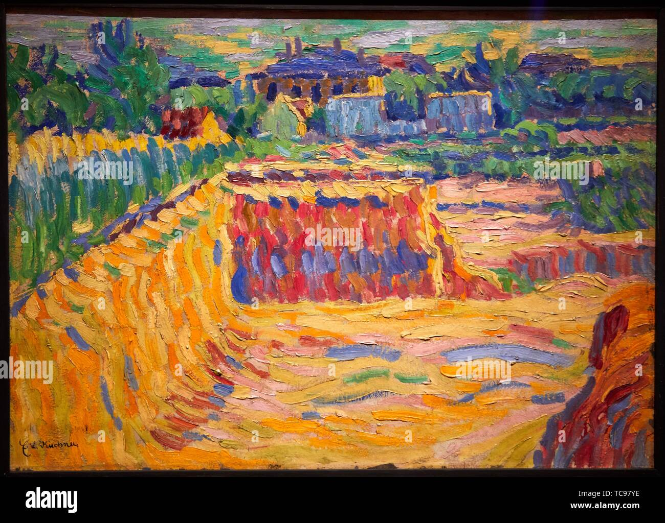 '''The Loam Pit'', 1906, Ernst Ludwig Kichner, Thyssen Bornemisza Museum, Madrid, Spain, Europe - Stock Image