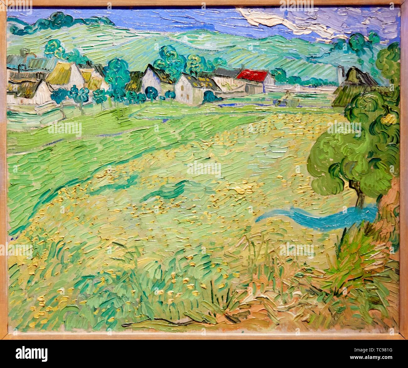 '''Les Vessenots in Auvers'', 1890, Vincent van Gogh, Thyssen Bornemisza Museum, Madrid, Spain, Europe - Stock Image
