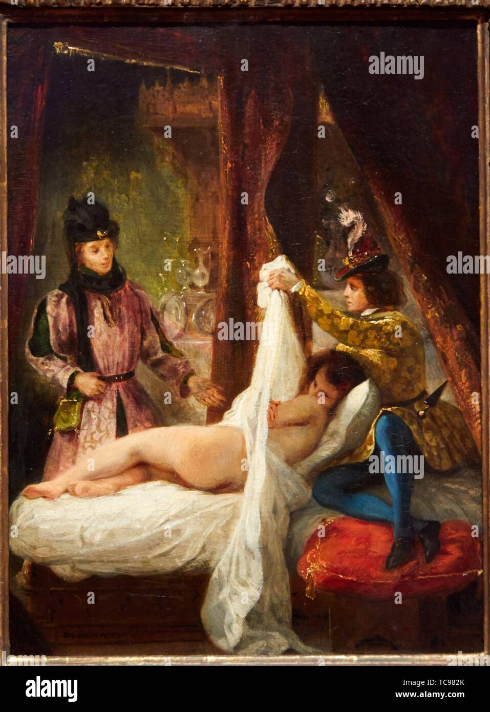 '''The Duke of Orleans showing his Lover'', 1825-1826, Eugène Delacroix, Thyssen Bornemisza Museum, Madrid, Spain, Europe - Stock Image
