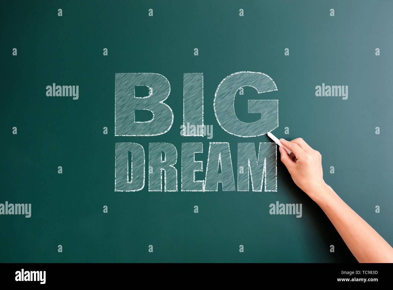 big dram written on blackboard - Stock Image
