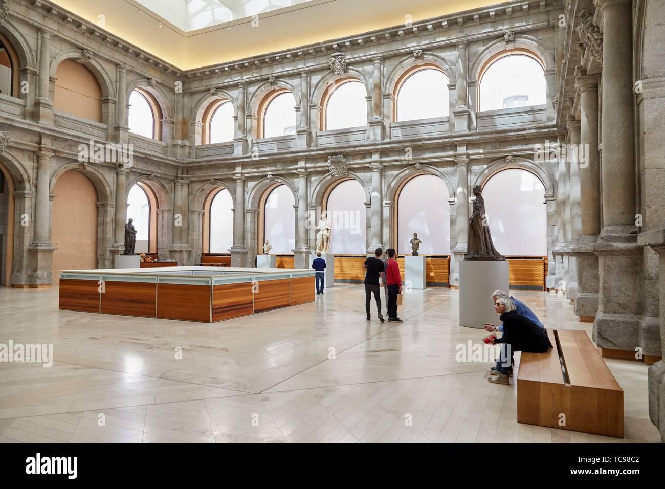 Cloister Jerónimos Building, Prado Museum, Madrid, Spain, Europe - Stock Image
