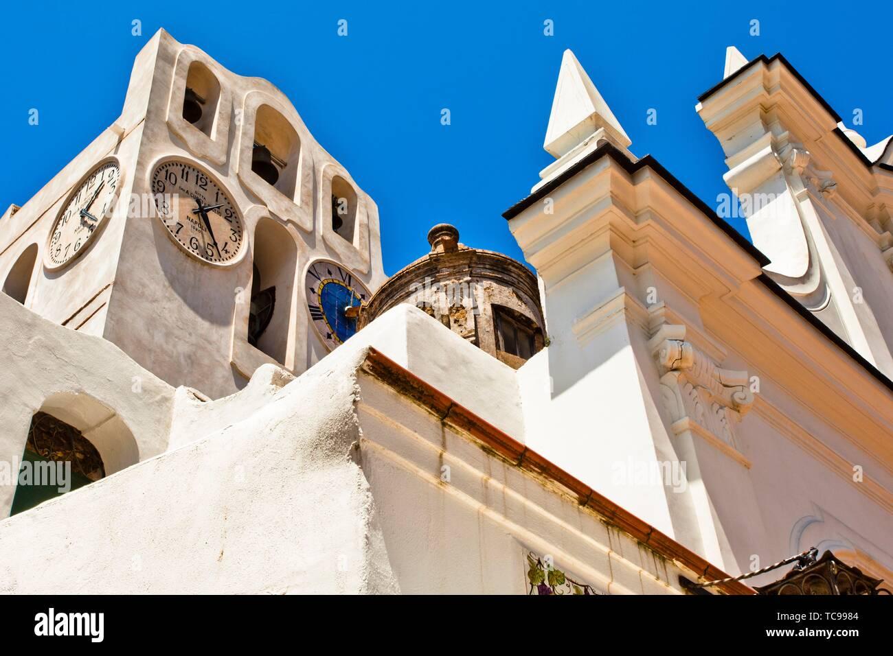 Chiesa di Santa Sofia, Santa Sofia Church, Anacapri, Capri island, Campania region, Tyrrhenian Sea, Italy, Europe. Stock Photo