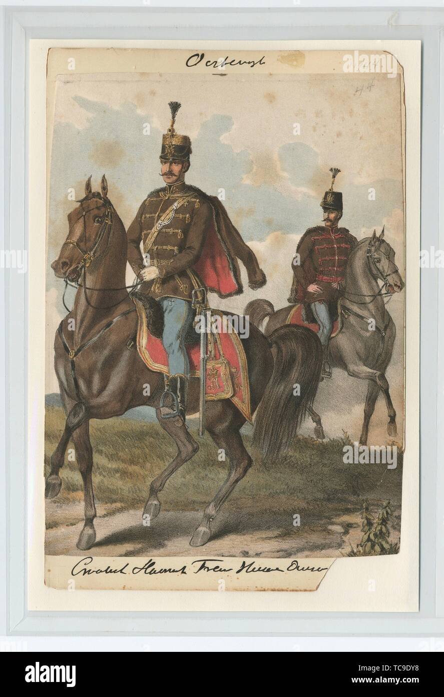 Croatisch Slavonisch Frei Husar Owsc[]. Vinkhuijzen, Hendrik Jacobus (Collector). The Vinkhuijzen collection of military uniforms Austria Austria, - Stock Image