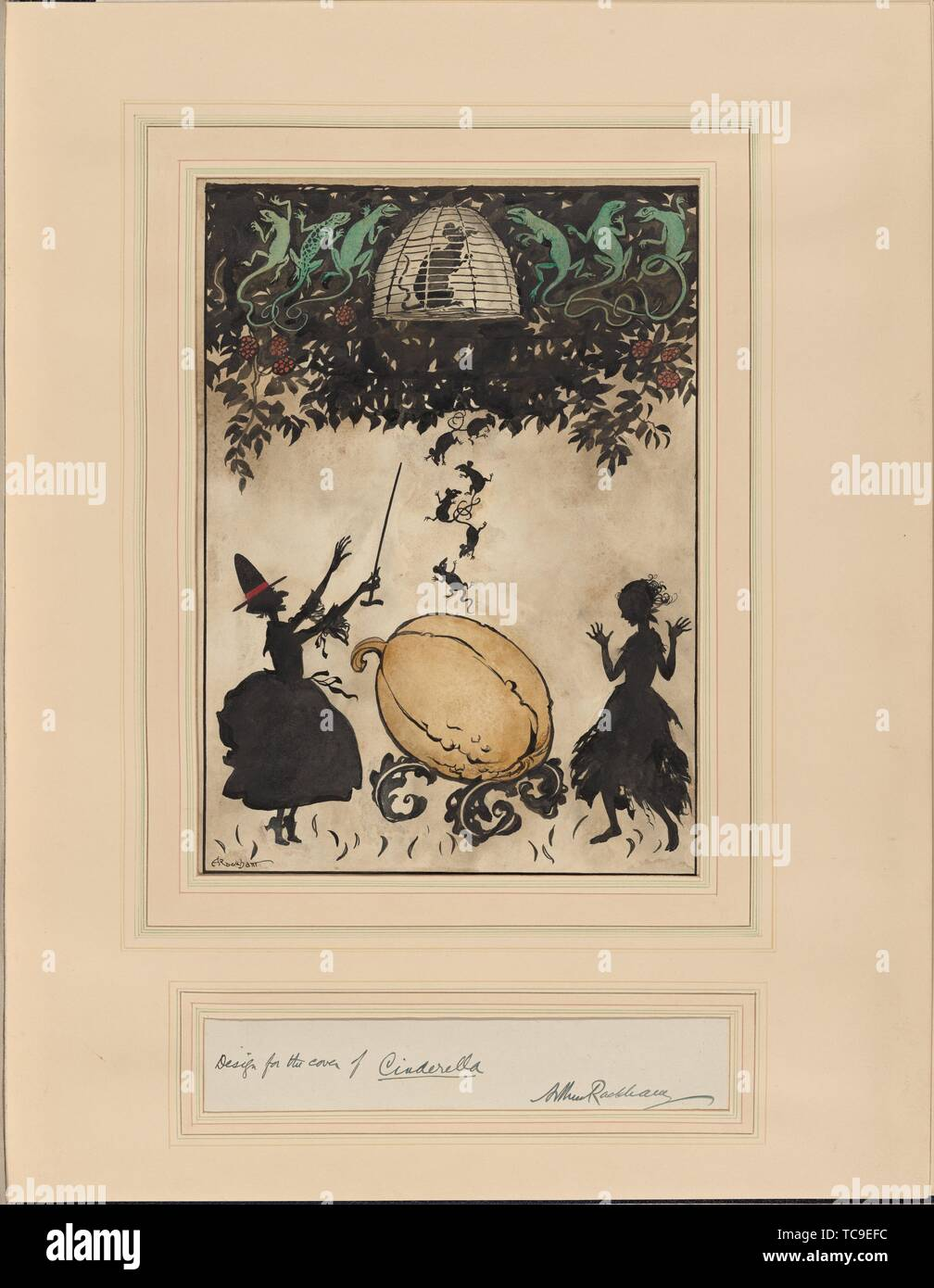 Cinderella. Rackham, Arthur, 1867-1939 (Artist). Twenty-two original drawings. Date Created: 1919. Drawing, British. Drawings. Still image. Stock Photo