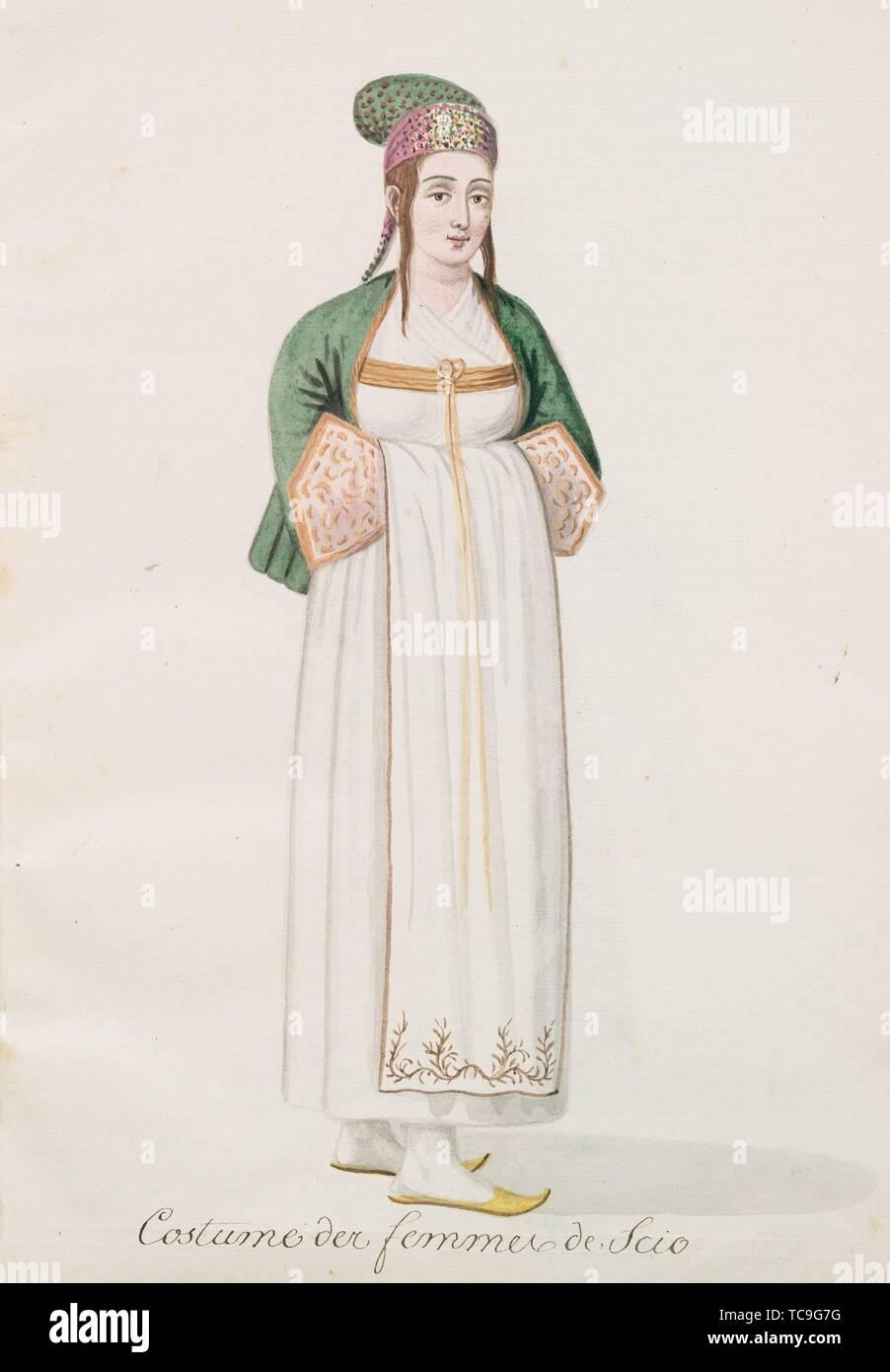 Costume Des Femmes De Scio Chios 81 Mahmud Ii Sultan