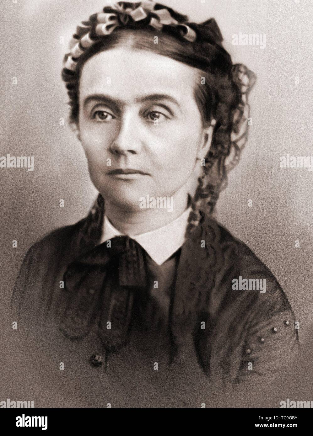 Tante Leonie Elisabeth Proust Amiot, aunt of Marcel Proust, a character on Proust's 'In Search of Lost Time' - Stock Image