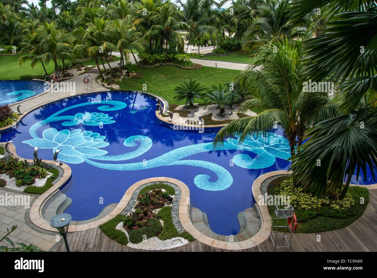 The Swimming Pool Of Forest City Phoenix International Marina Hotel Johor Bahru Malaysia Stock Photo Alamy