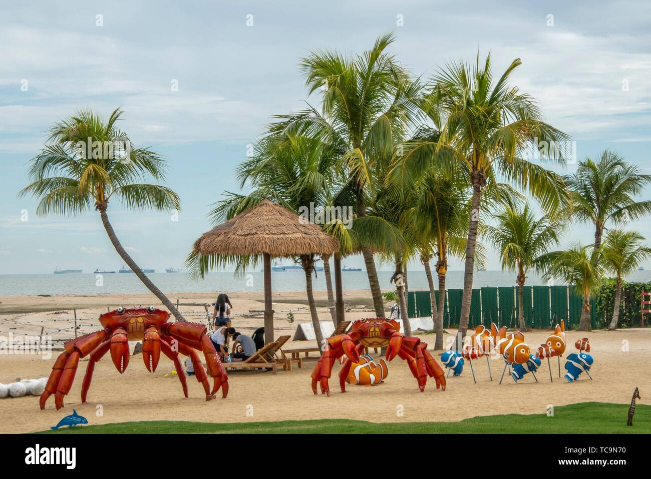 The Beach Front Of Forest City Phoenix International Marina Hotel Johor Bahru Malaysia Stock Photo Alamy