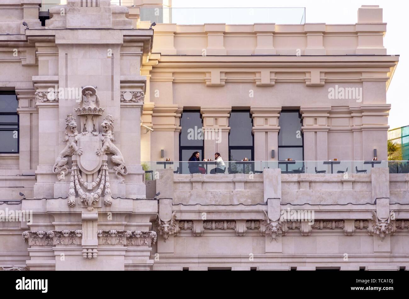 Terraza Del Palacio De Las Comunicaciones Ayuntamiento