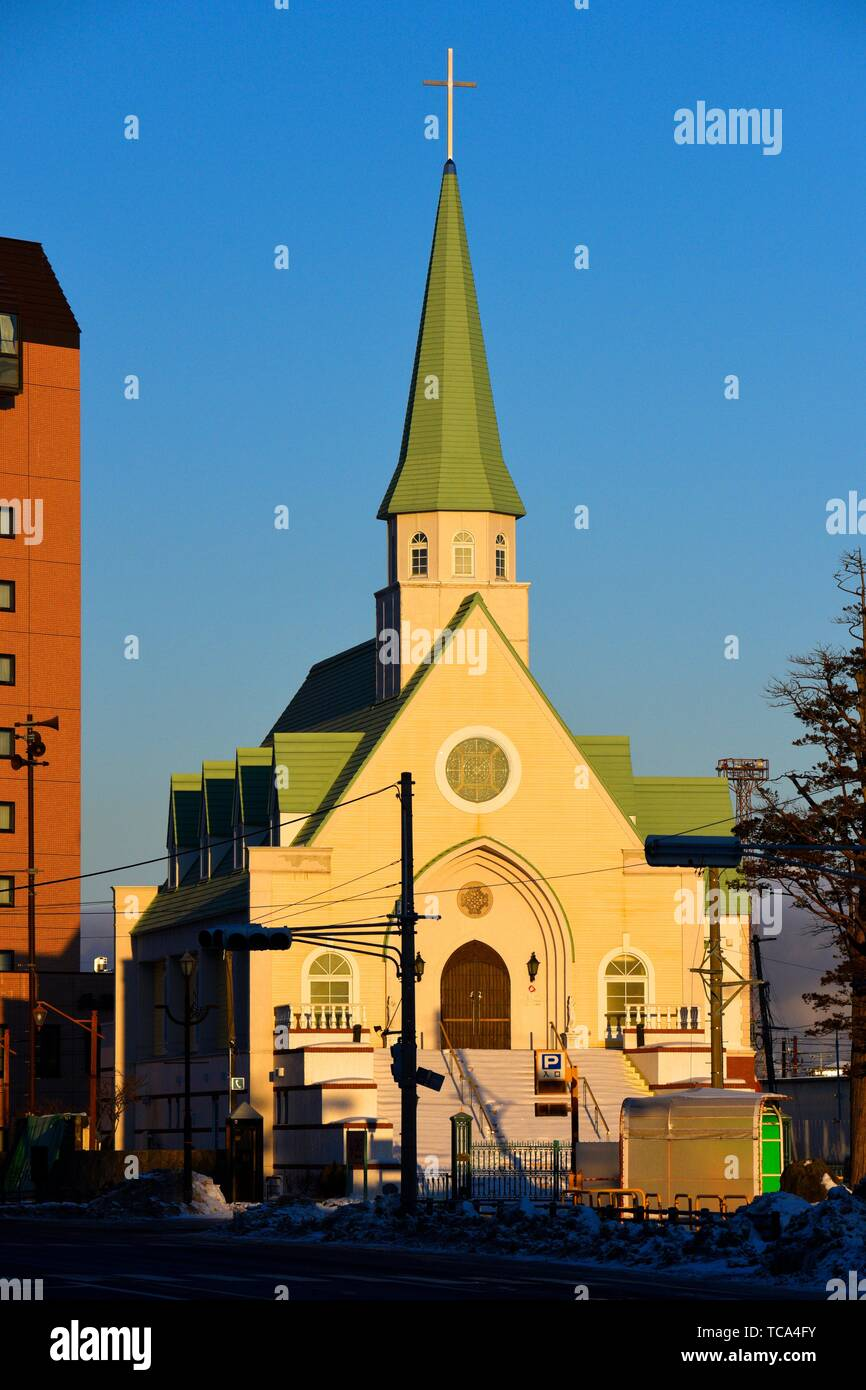 The Grace Christian church in Kushiro city, Hokkaido, Japan, Asia. - Stock Image