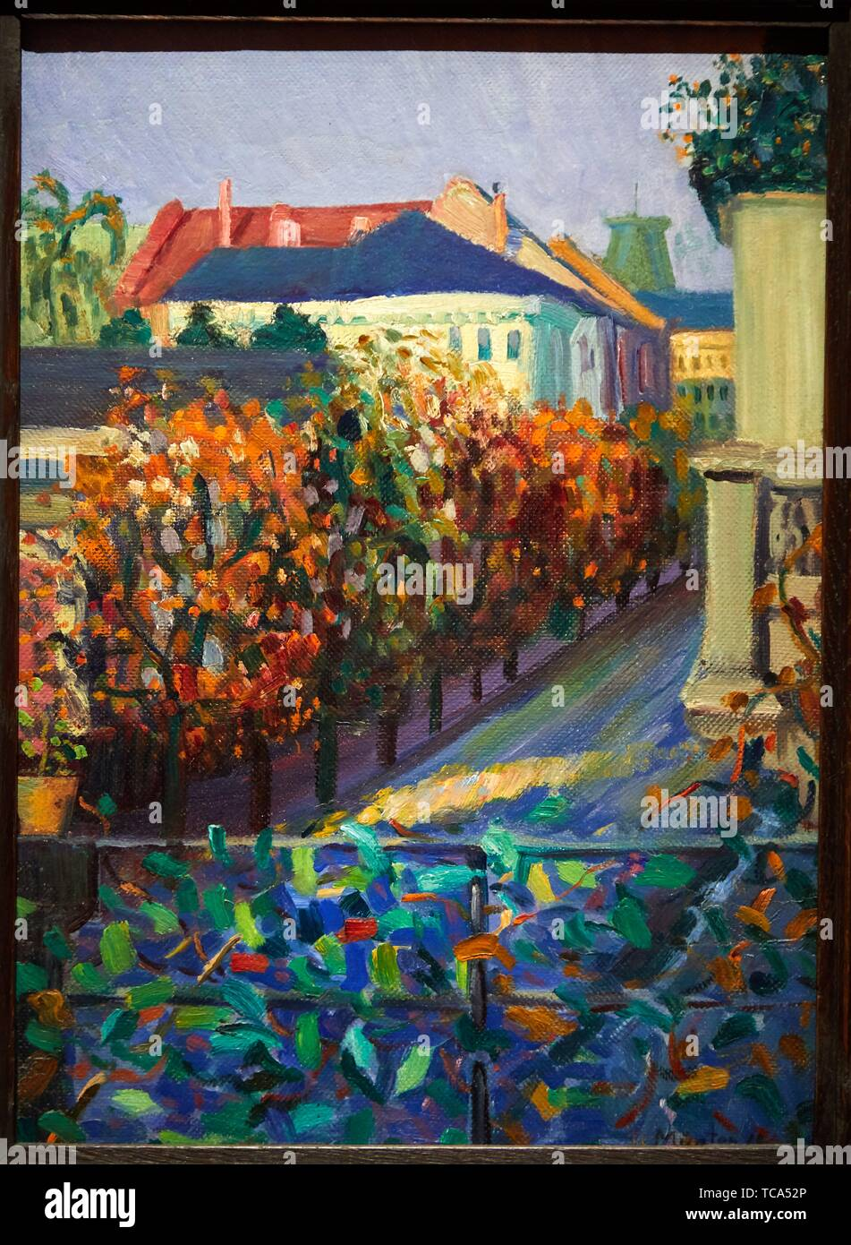 '''View from her Brother's House in Bonn'', 1908, Gabriele Münter, Thyssen Bornemisza Museum, Madrid, Spain, Europe - Stock Image