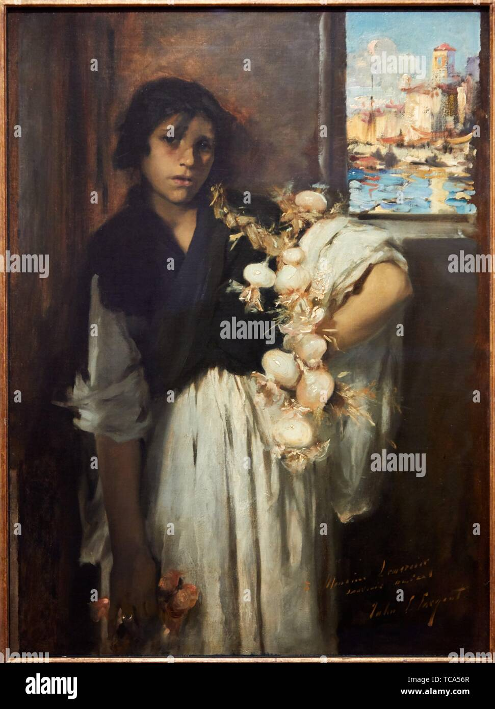 """""""Venetian Onion Seller"""", 1880-1882, John Singer Sargent, Thyssen Bornemisza Museum, Madrid, Spain, Europe Stock Photo"