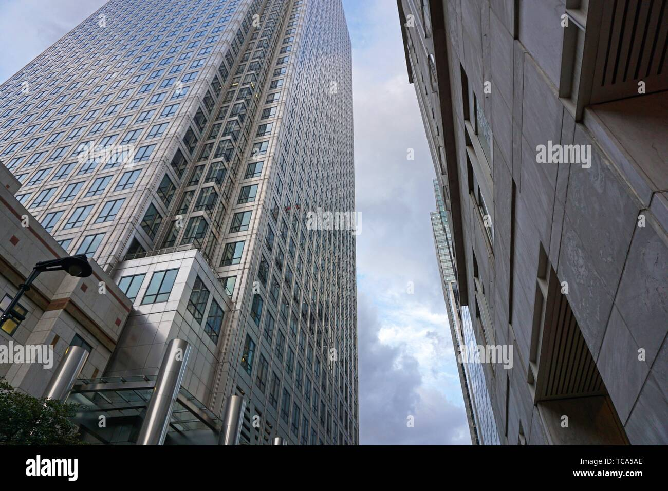 One Canada Square Building, Canary Wharf. London, England, Great Britain, Europe. - Stock Image