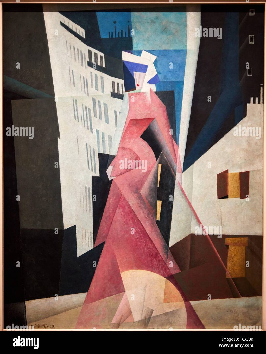 '''The Lady in Mauve'', 1922, Lyonel Feininger, Thyssen Bornemisza Museum, Madrid, Spain, Europe - Stock Image