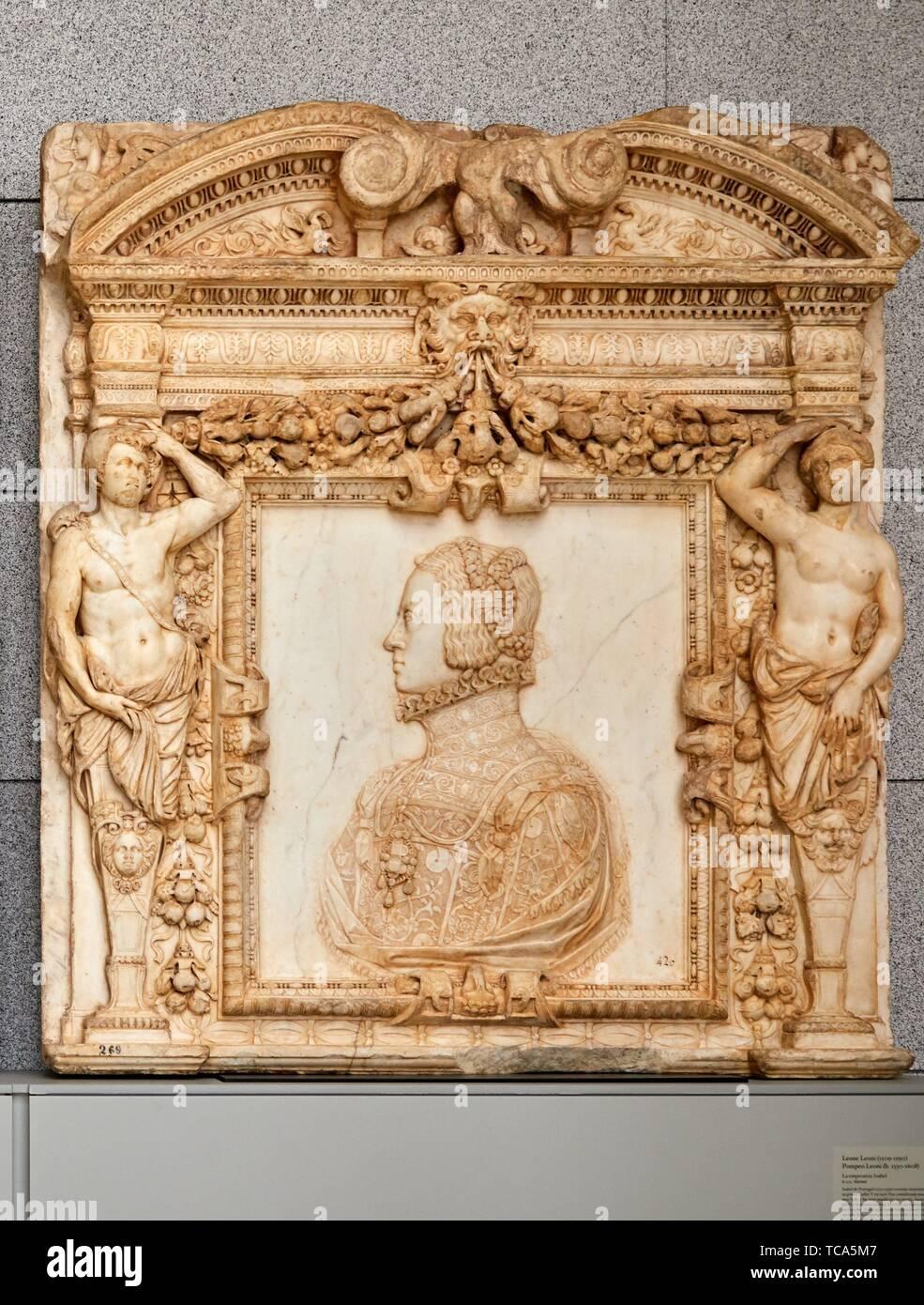 '''Empress Isabel'', 1555, Leone Leoni, Pompeo Leoni, Cloister Jerónimos Building, Prado Museum, Madrid, Spain, Europe - Stock Image