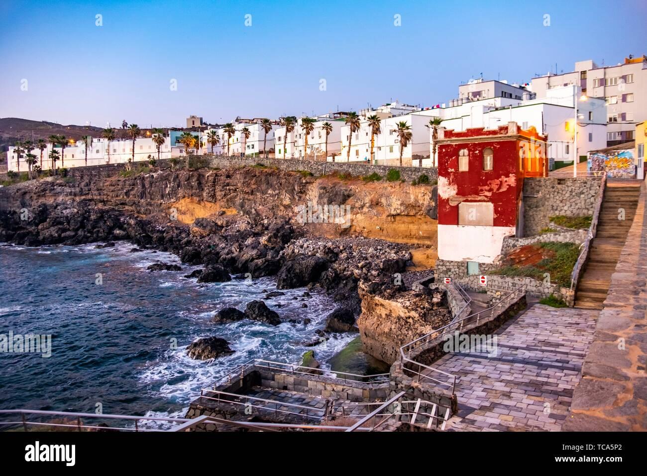 Coastline of Gran Canaria, Europe. Stock Photo
