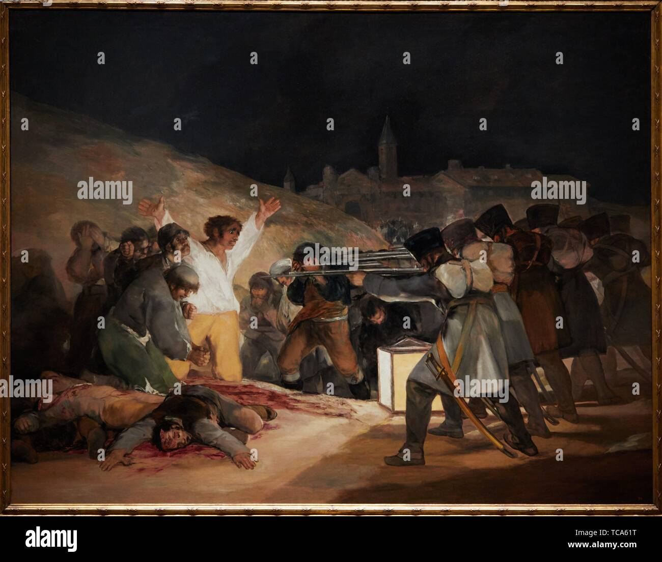'''The 3rd of May 1808 in Madrid, or ''The Executions'', 1814, Francisco de Goya y Lucientes, Prado Museum, Madrid, Spain, Europe - Stock Image