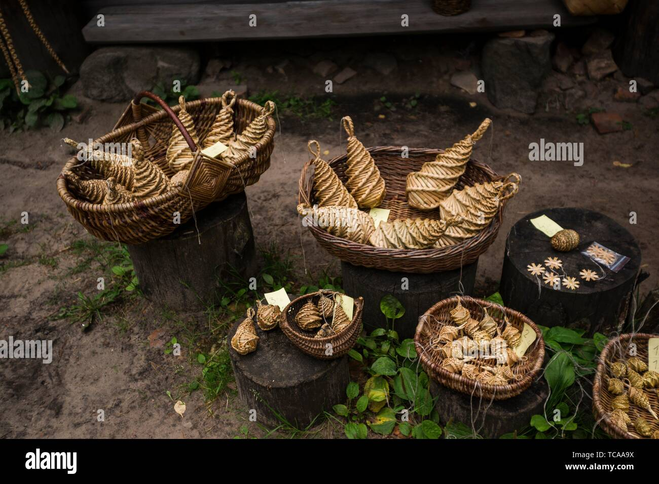 Traditional crafts. Latvian Ethnographic Open-Air Museum. Riga, Latvia, Baltic States, Europe. - Stock Image