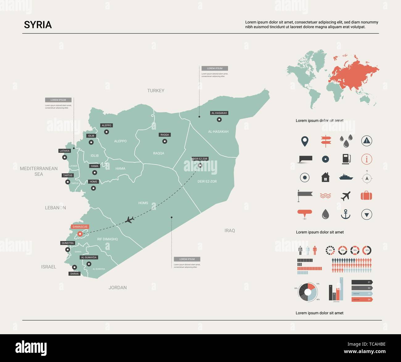 Damascus Map on