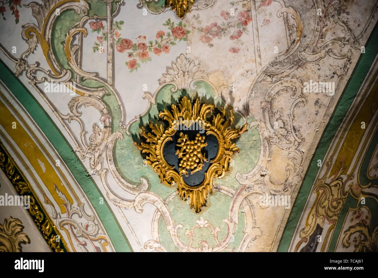 View of Ceiling of Circumcision Room at Topkapi Palace, a large museum destination,in Istanbul,Turkey. 11 April 2018. Stock Photo