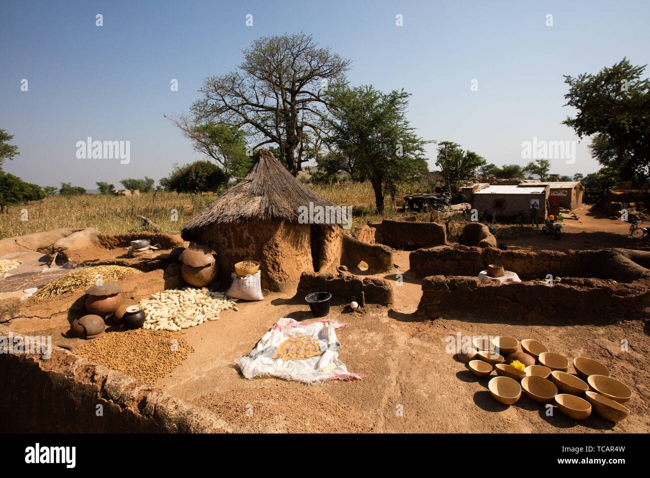 Tools utilized by gold digger, Burkina faso. - Stock Image