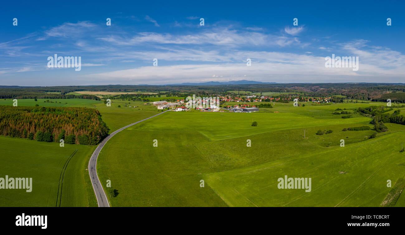 Luftbilder aus dem Harz Ortschaft Allrode Stadt Thale - Stock Image