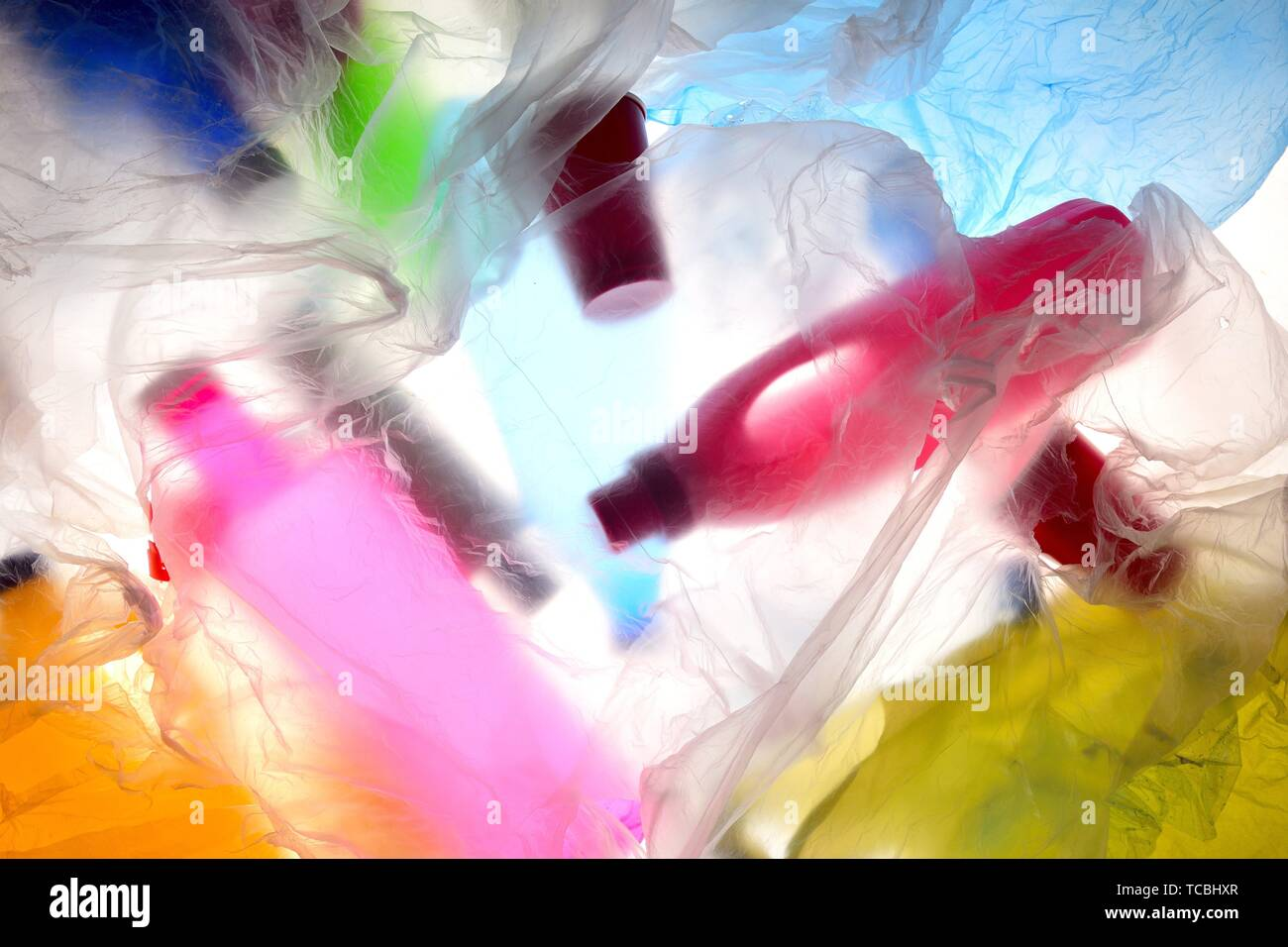 trash diffuse plastic backlight. - Stock Image