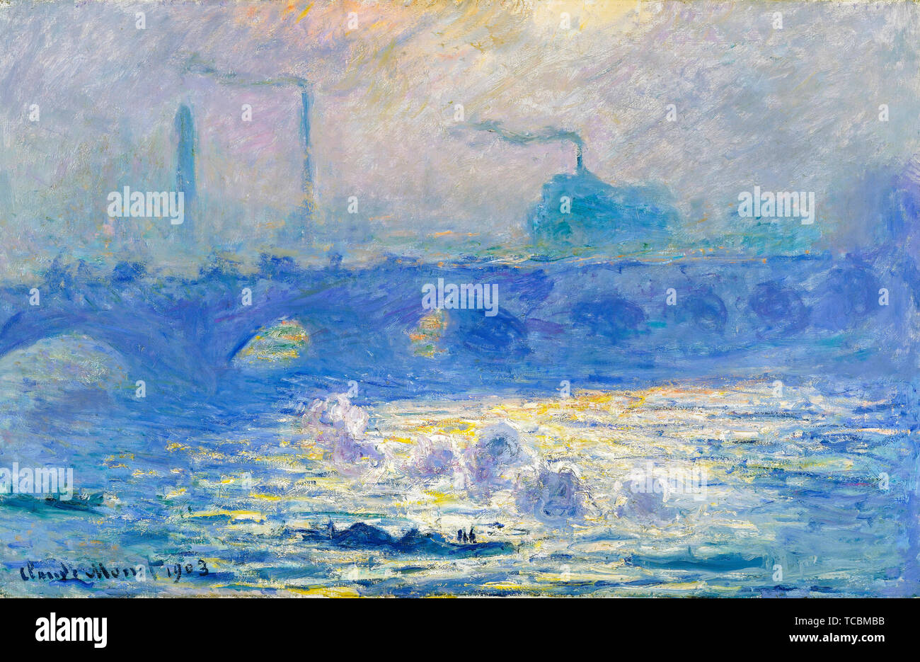 Claude Monet, Waterloo Bridge, painting, 1903 - Stock Image